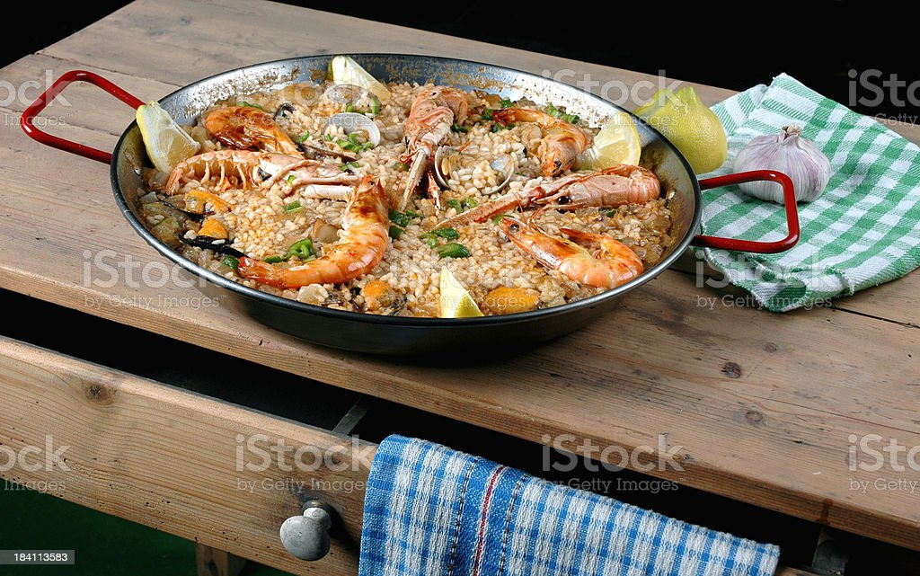 Spanish Paella royalty-free stock photo