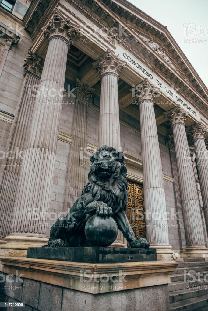 Spanish Parliament stock photo