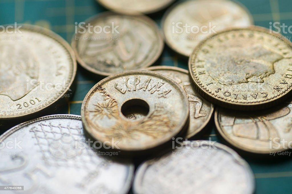 Spanish peseta stock photo