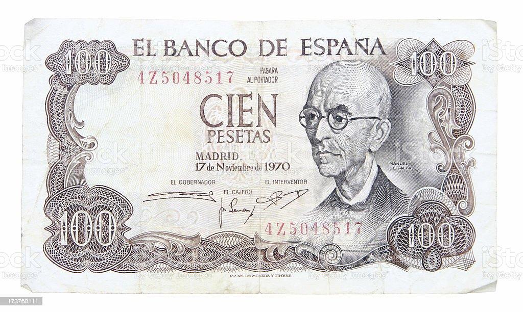 Spanish Pesetas stock photo