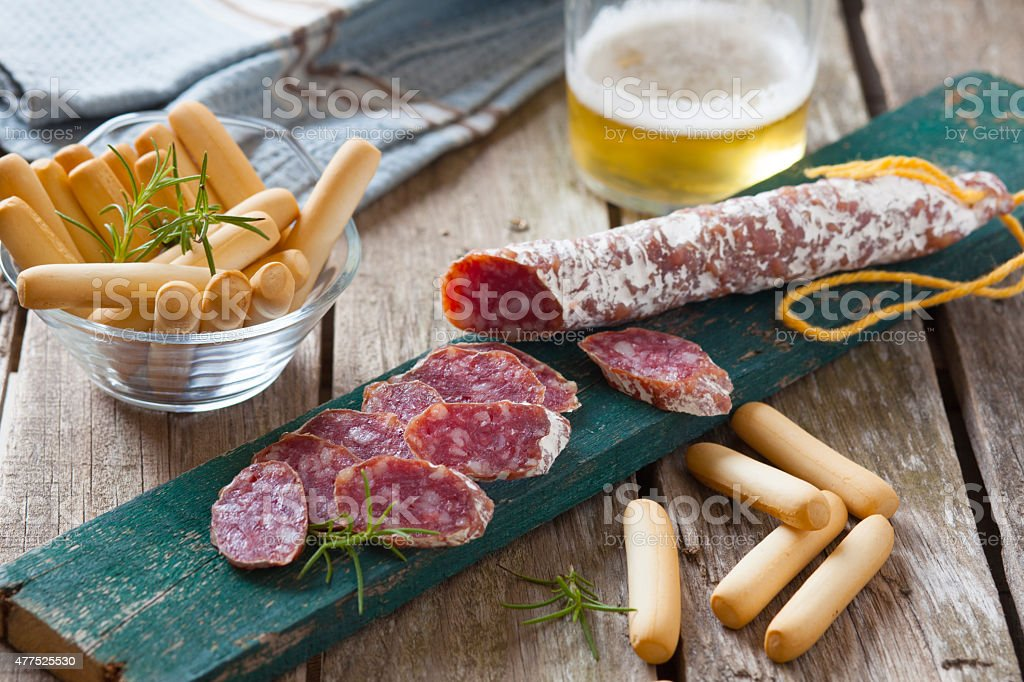 Spanish prosciutto stock photo
