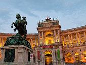 Spanish Riding School building in Vienna, Austria