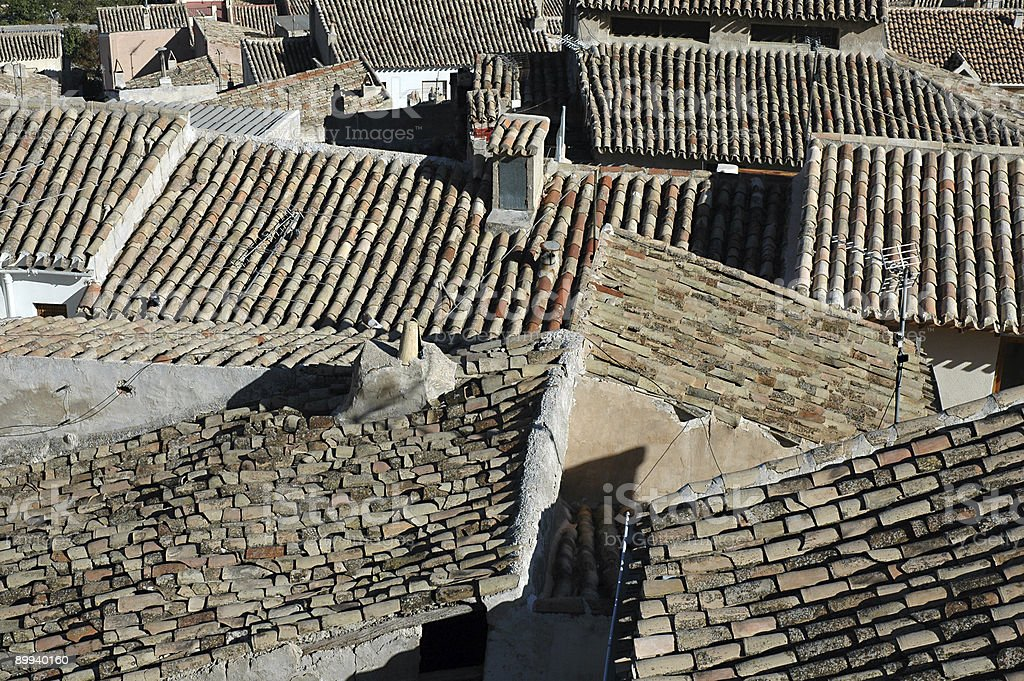 Spanish Roofs royalty-free stock photo