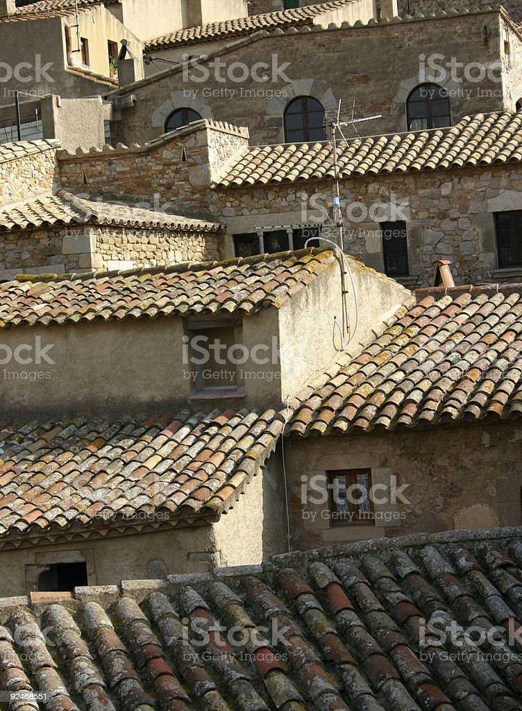 Spanish roofs royalty-free stock photo
