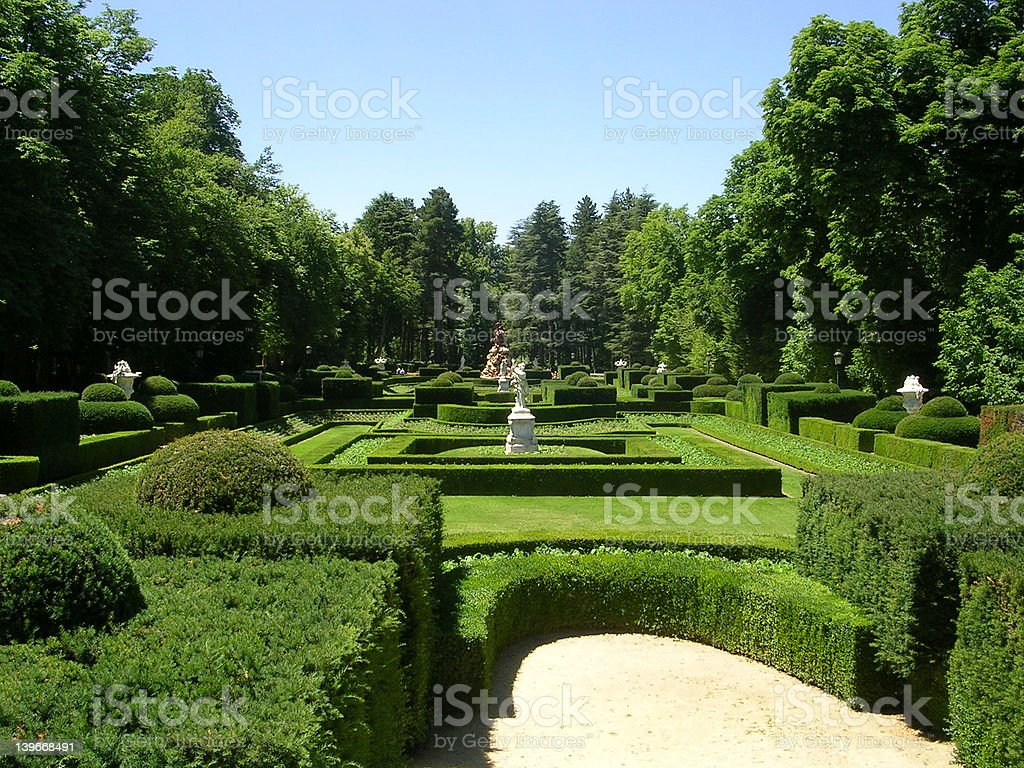 Spanish royal garden royalty-free stock photo