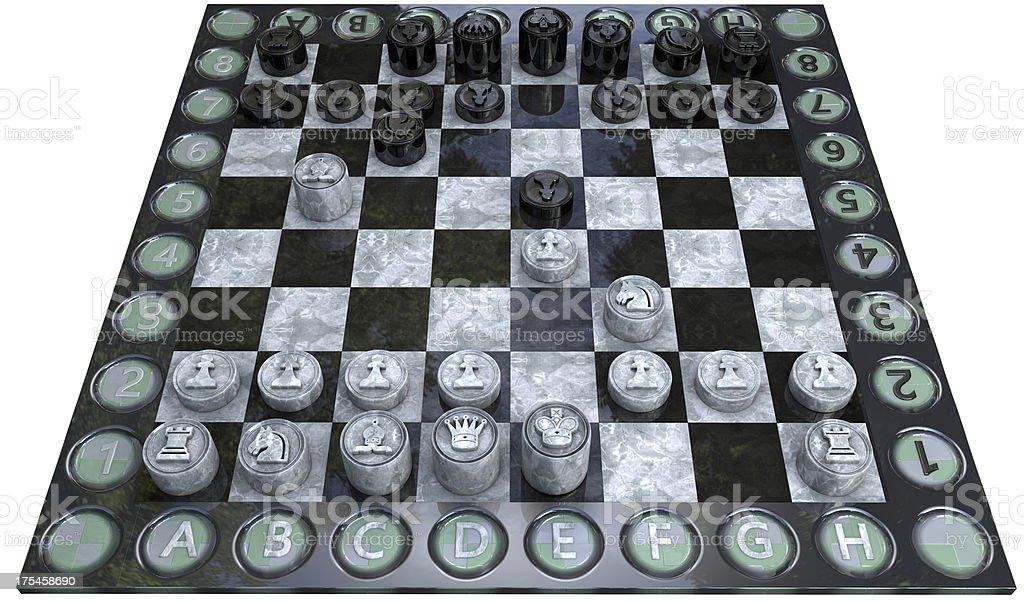 Spanish Ruy Lopez Opening in Chess stock photo