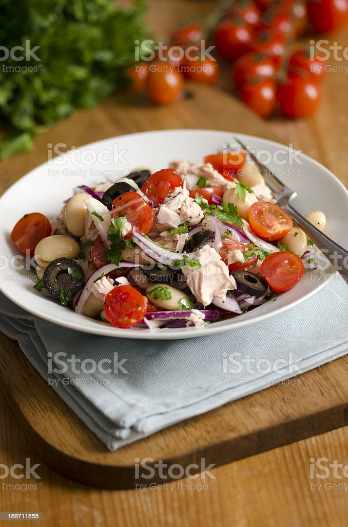 Spanish salad stock photo