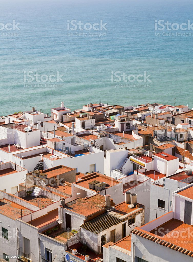 Spanish seaside village royalty-free stock photo