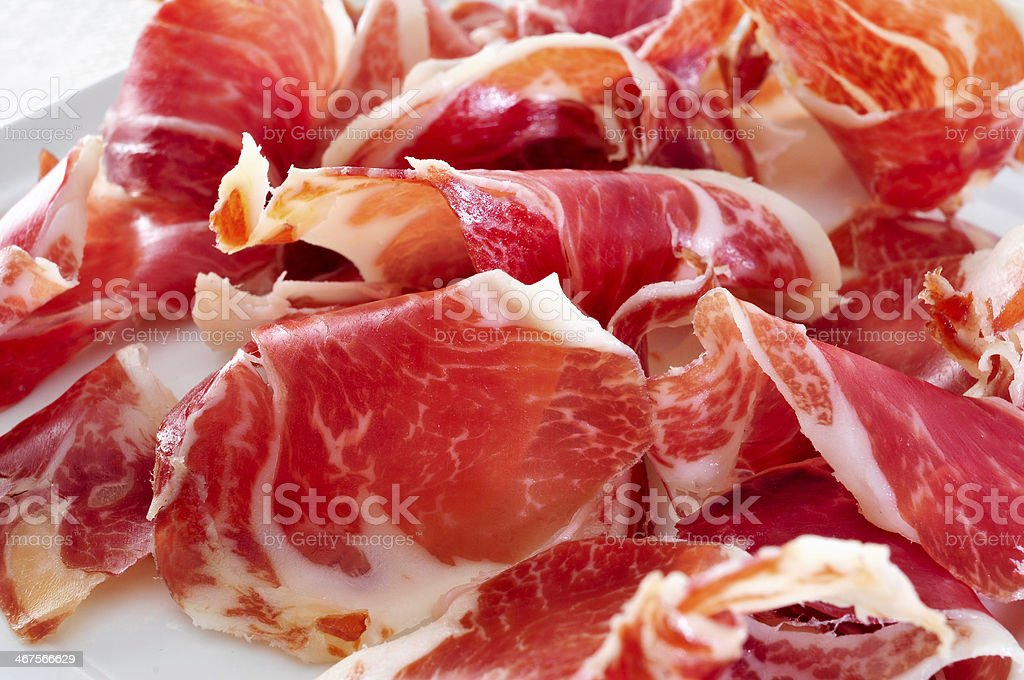 spanish serrano stock photo
