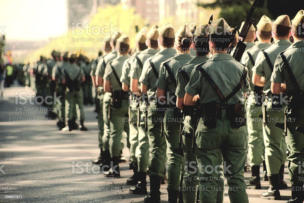 spanish soldiers stock photo