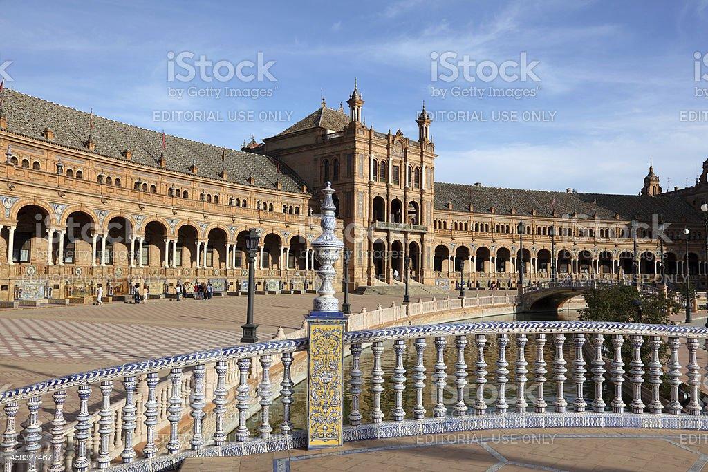 Spanish square in Seville, Spain royalty-free stock photo