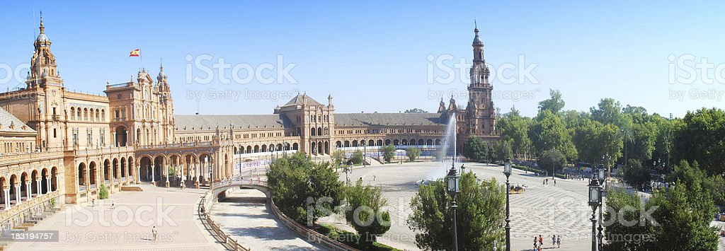 Plaza de Espana in Siviglia royalty-free stock photo
