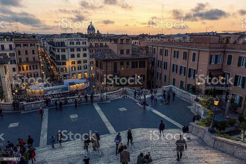 Degraus Espanhóis, em Roma foto royalty-free