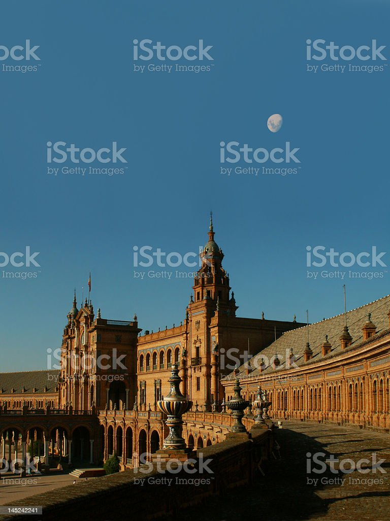 Plaza de España in Sevilla royalty-free stock photo