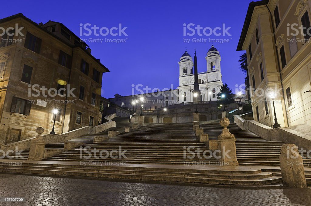 Spanish Steps Piazza di Spagna Rome Italy stock photo
