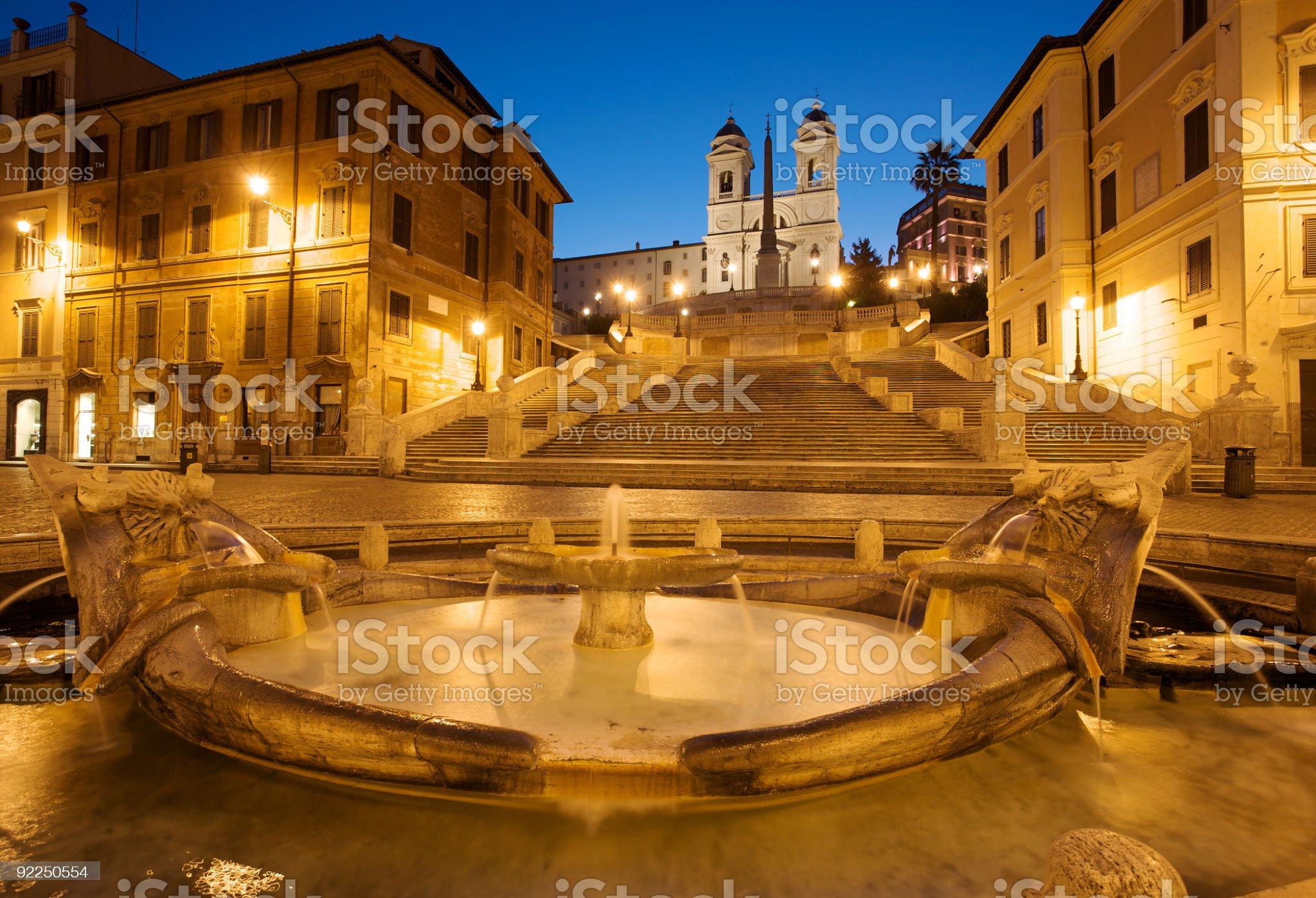 Spanish steps royalty-free stock photo