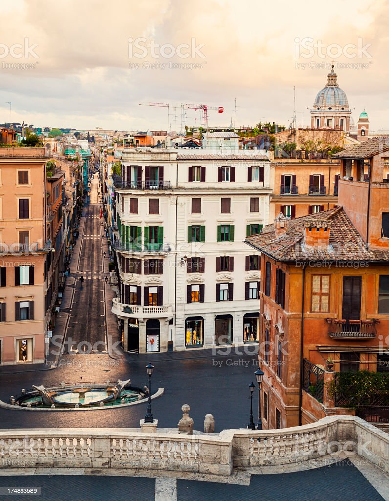 Piazza di Spagna, Rome, Italy royalty-free stock photo