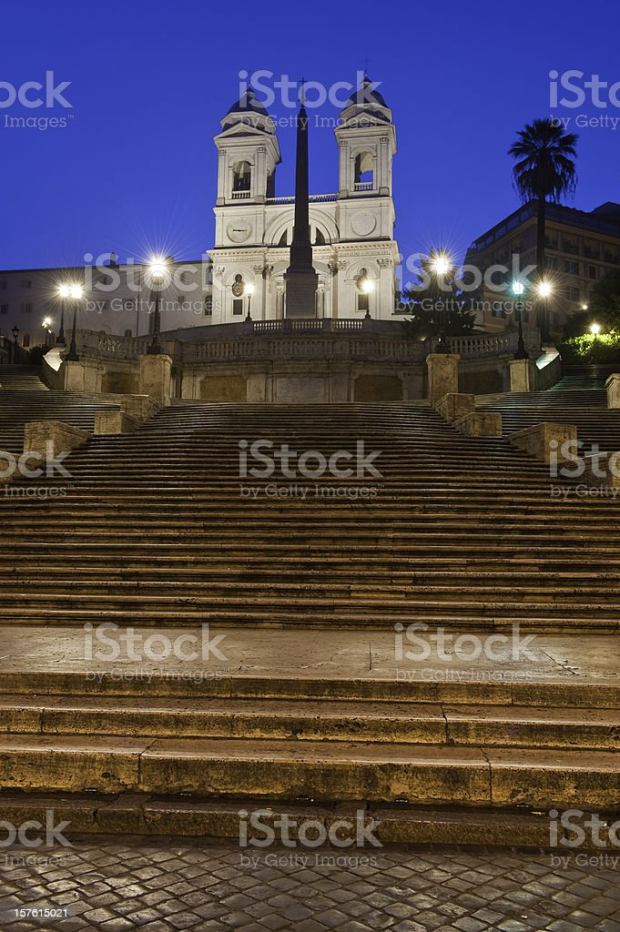 Spanish Steps Scalinata di Spagna landmark piazza Rome Italy Europe stock photo
