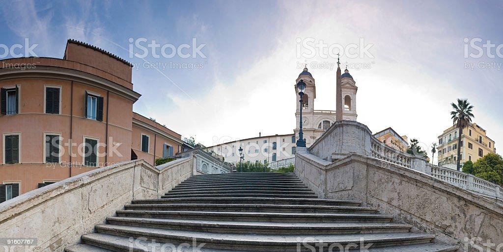 Spanish Steps, Trinità dei Monti, Rome royalty-free stock photo