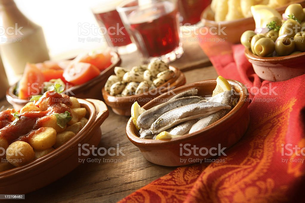 Spanish Stills: Tapas - Boquerones royalty-free stock photo