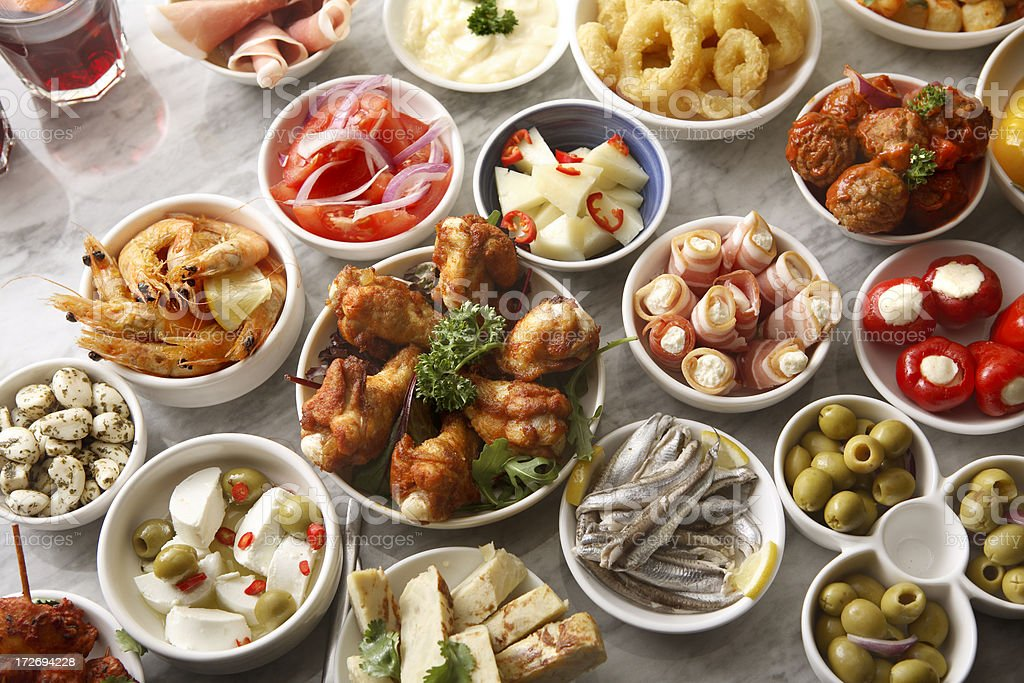 Spanish Stills: Tapas - Large Variety royalty-free stock photo
