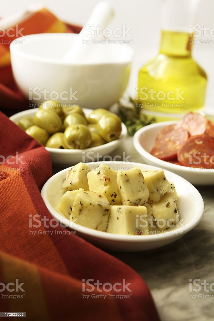Spanish Stills: Tapas - Manchego royalty-free stock photo