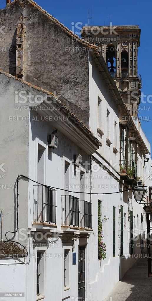 Spanish street, Arcos de la Frontera. stock photo