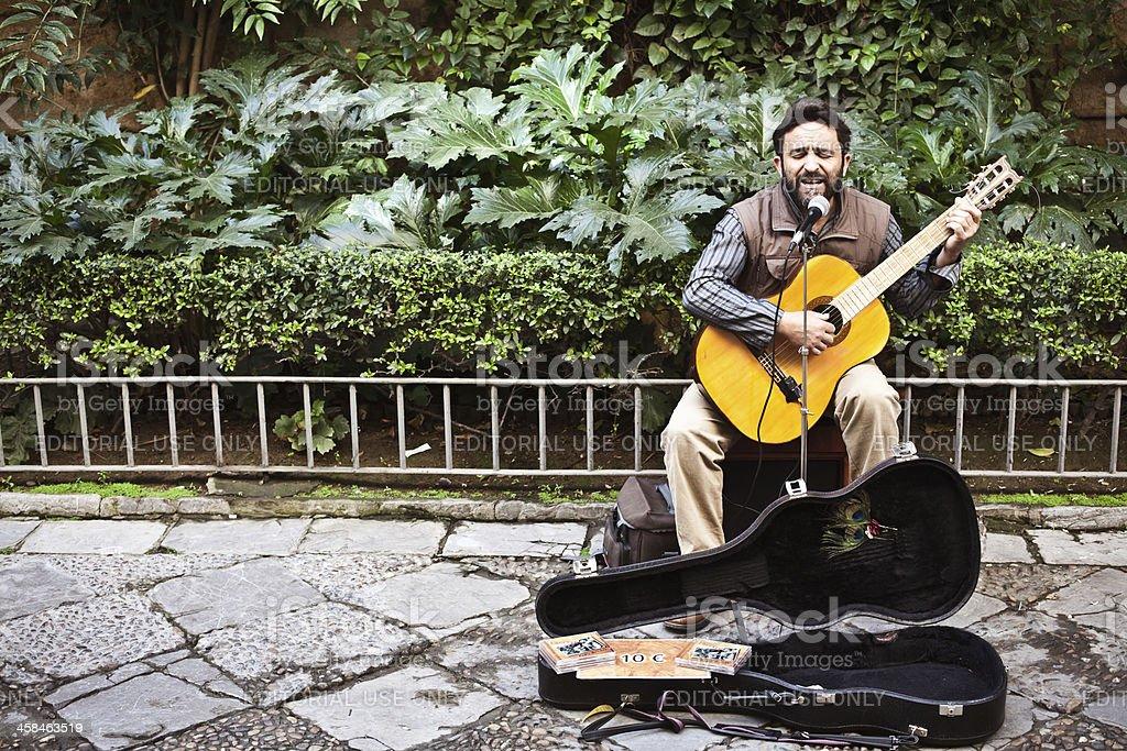 Spanish Street Musician stock photo