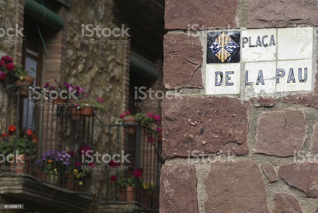 Spanish Street sign royalty-free stock photo