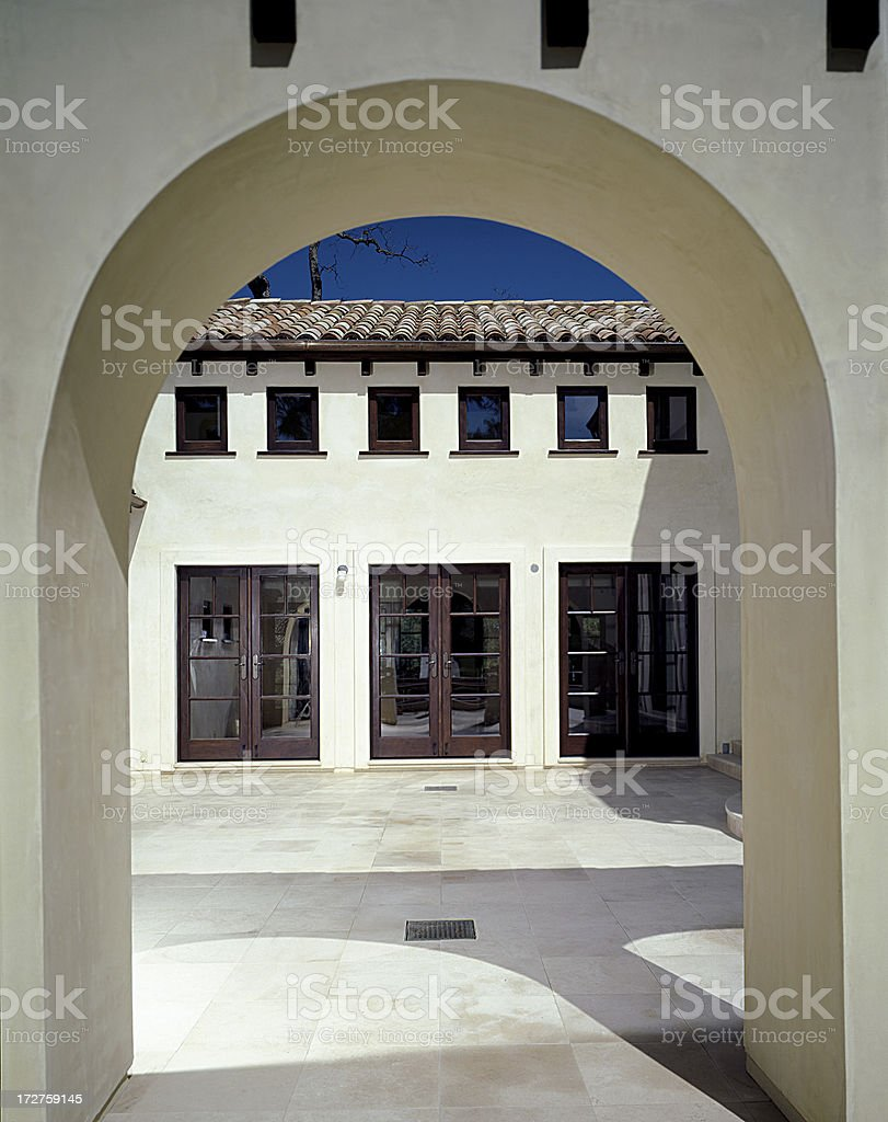 Spanish Style Archway Architectural Detail royalty-free stock photo