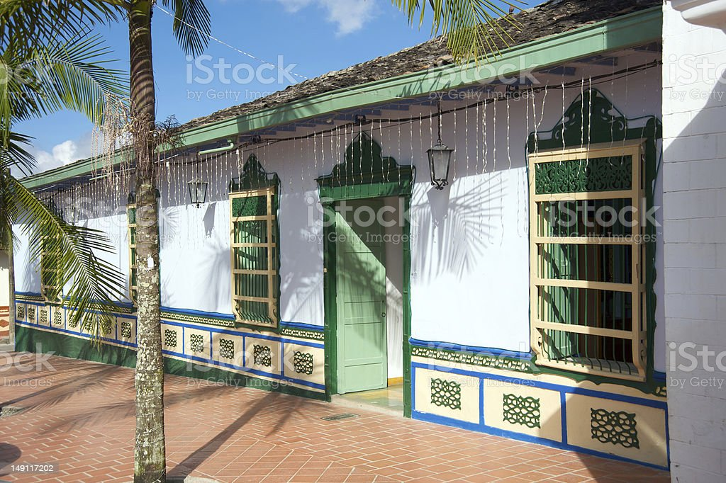Spanish style house in Colombia royalty-free stock photo