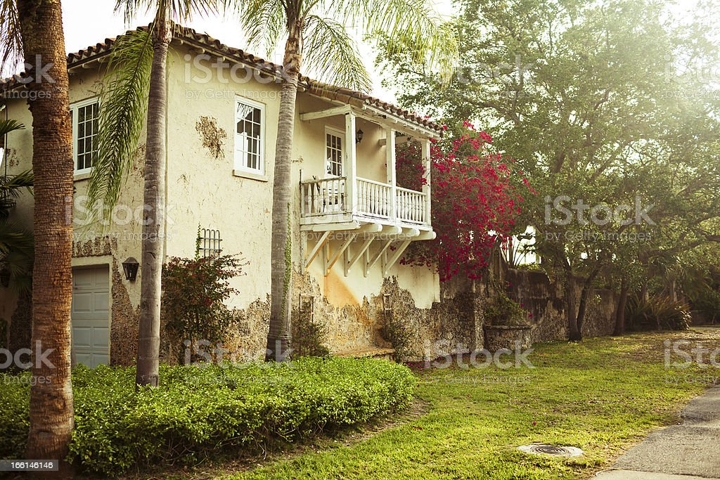 Spanish style house in Florida stock photo