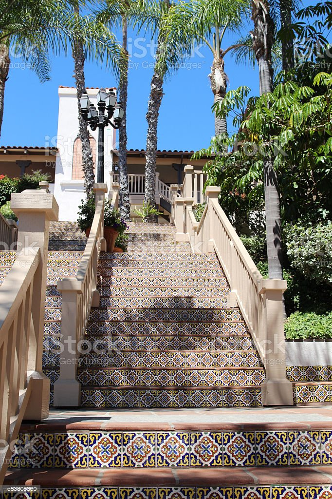 Spanish Style Staircase stock photo