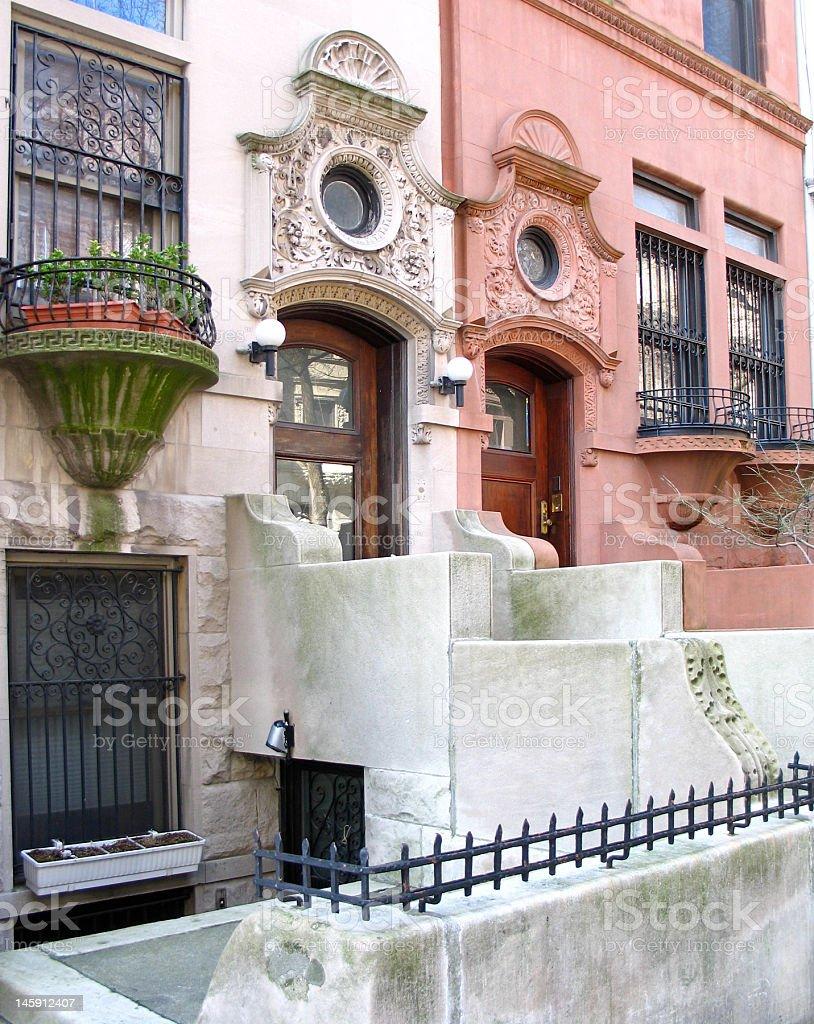 Spanish style townhouses royalty-free stock photo