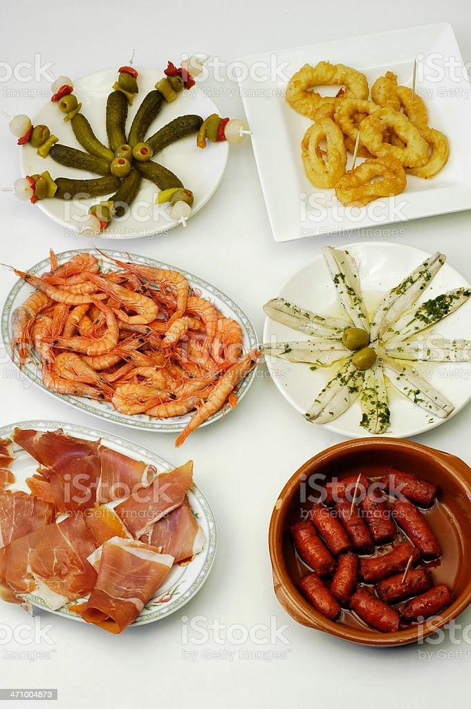 Spanish tapas royalty-free stock photo