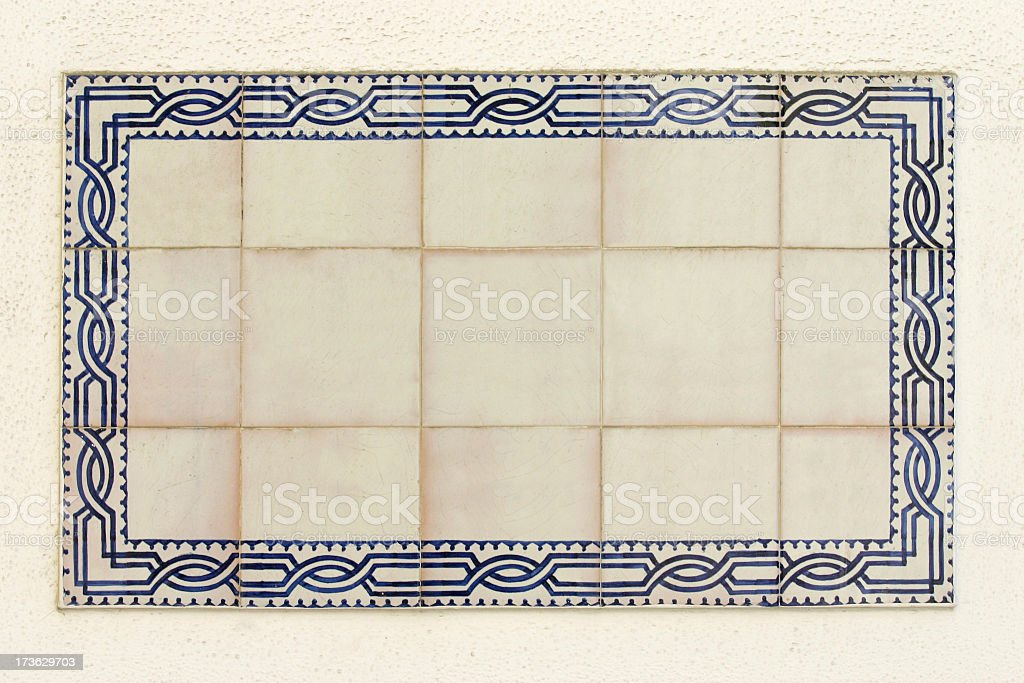 Spanish Tile Panel royalty-free stock photo
