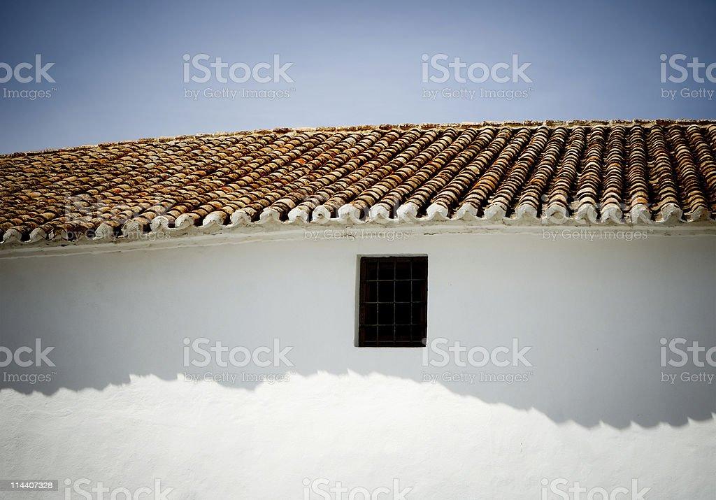 Spanish Tile Shadow royalty-free stock photo