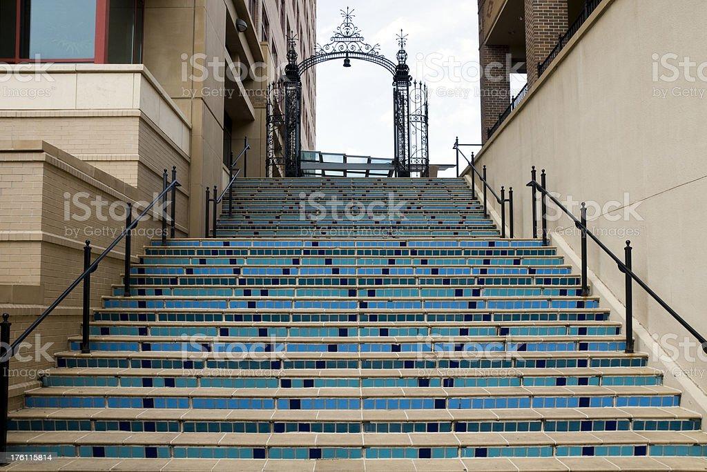Spanish Tiled Stairs stock photo