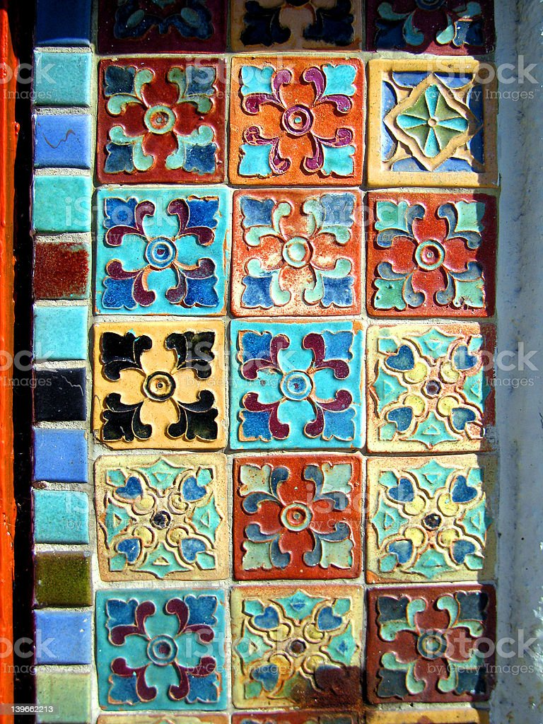 spanish tiles royalty-free stock photo