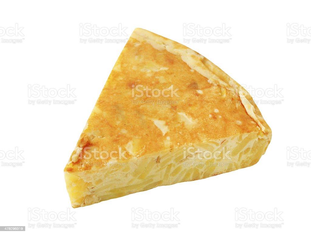 spanish tortilla slice royalty-free stock photo