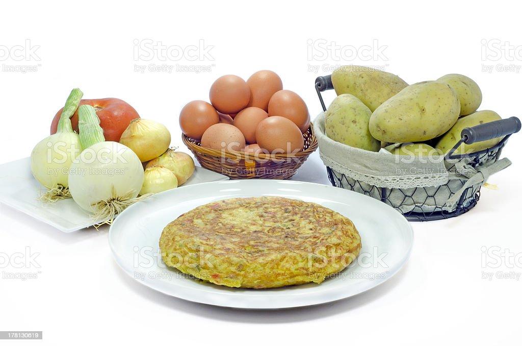 Spanish Omelette nature morte photo libre de droits