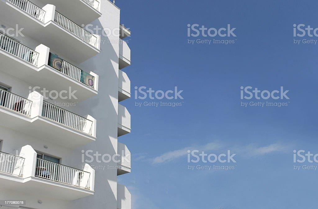 Spanish tourist hotel royalty-free stock photo
