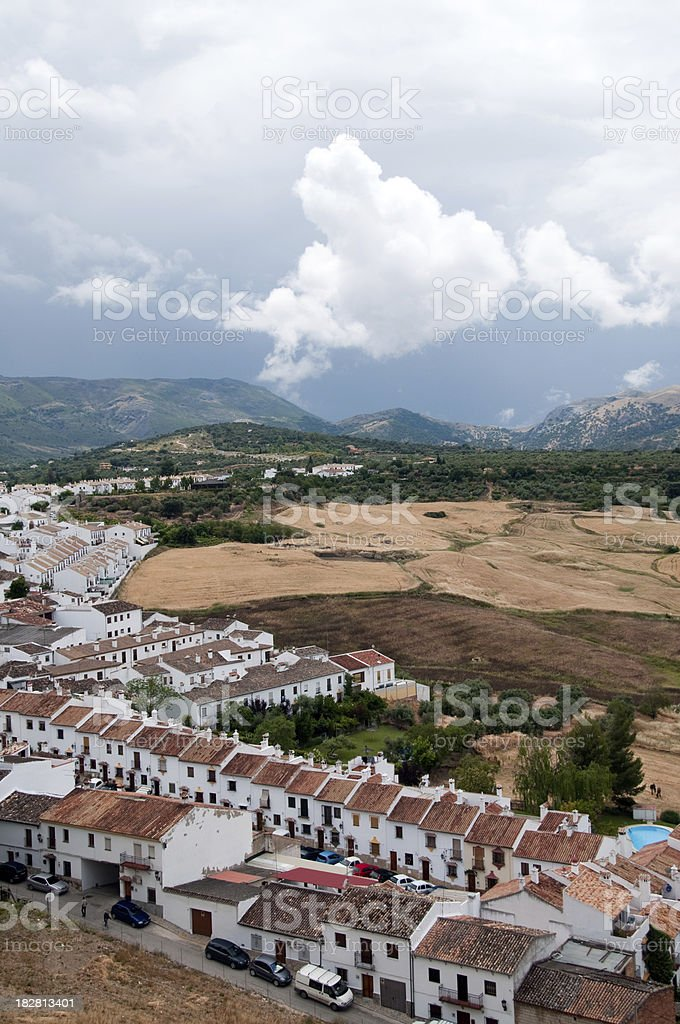 Spanish town in the Mountains royalty-free stock photo
