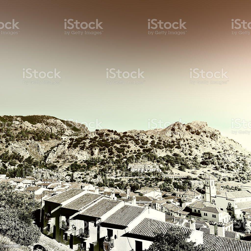 Spanish Town stock photo