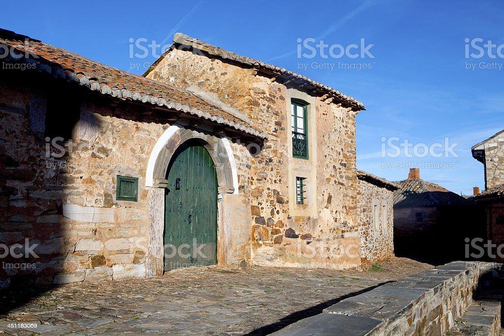 Spanish traditional village royalty-free stock photo