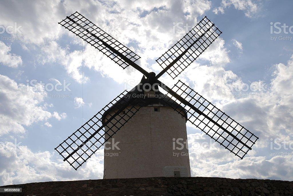 spanish traditional windmill stock photo