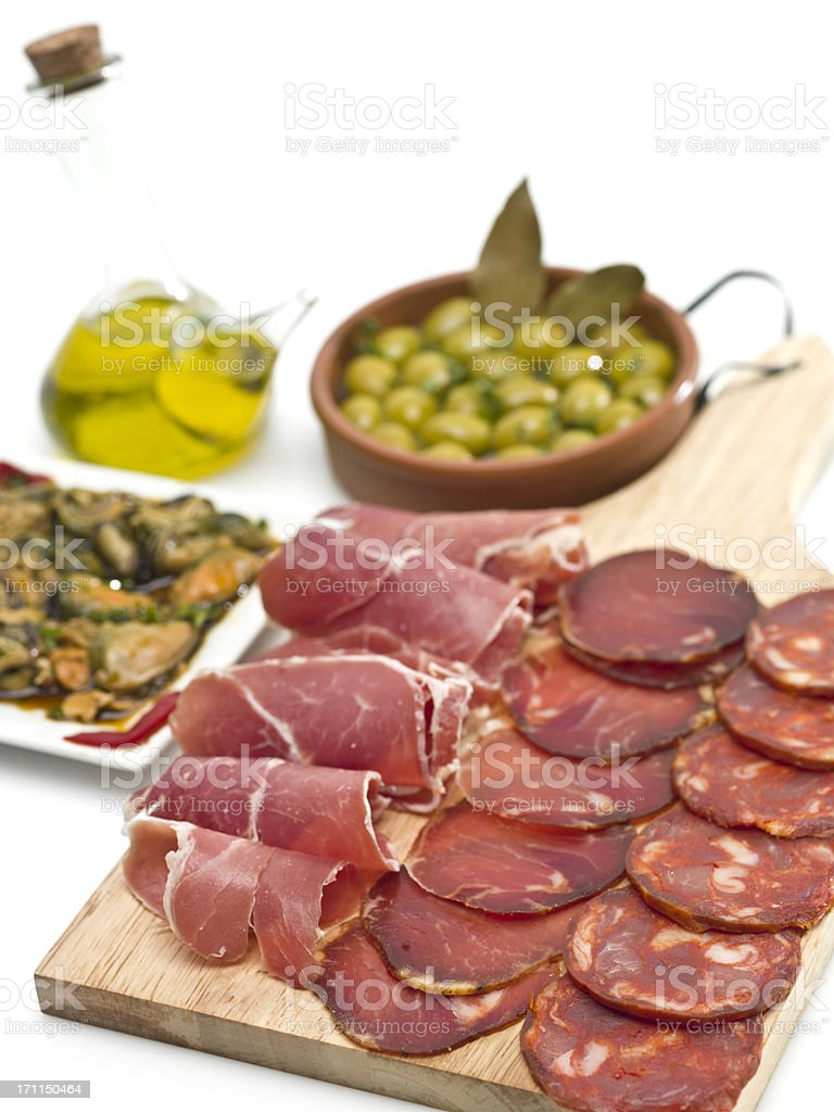 Spanish Typical Tapas royalty-free stock photo