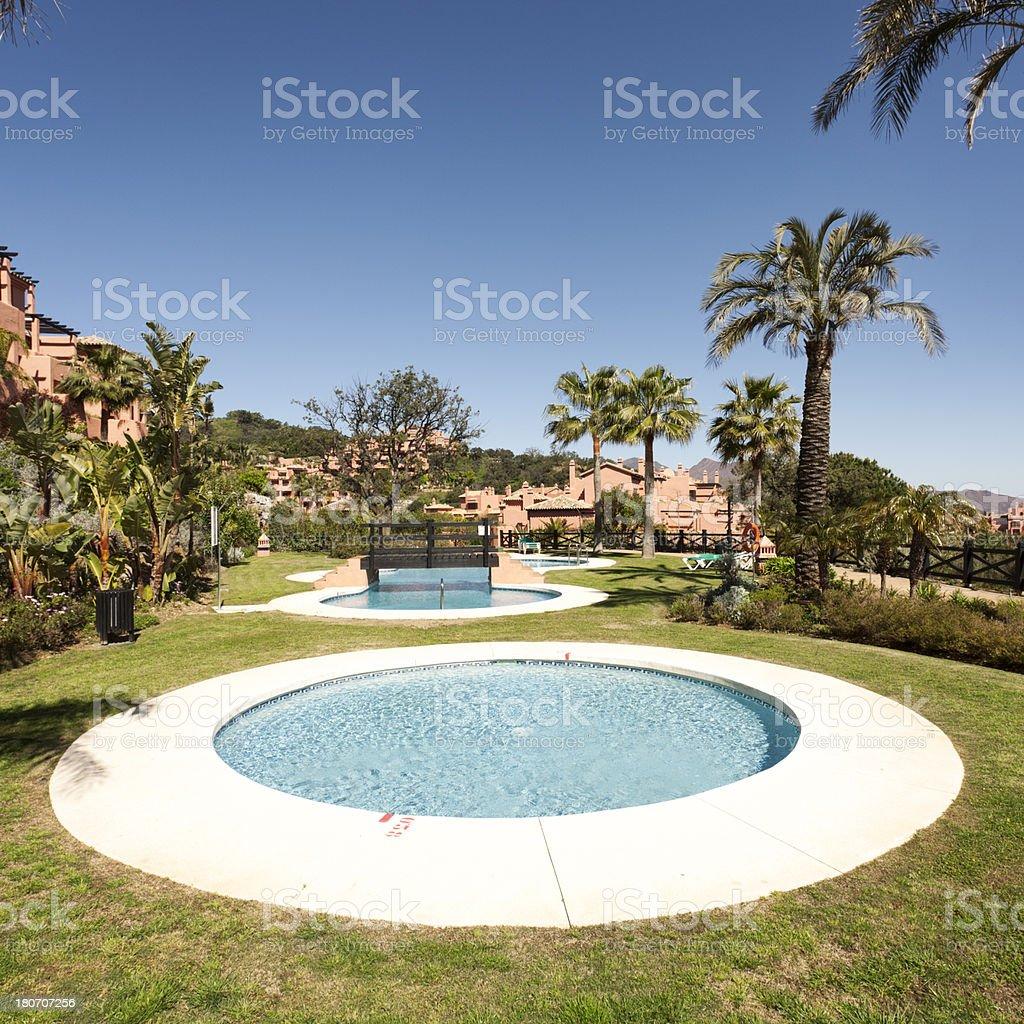 Spanish urbanisation stock photo