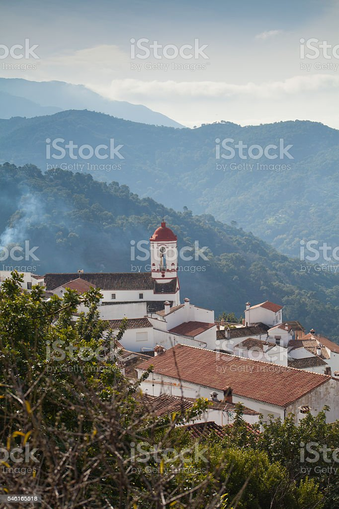 Spanish village in the heart of the mountains - Genalguacil stock photo