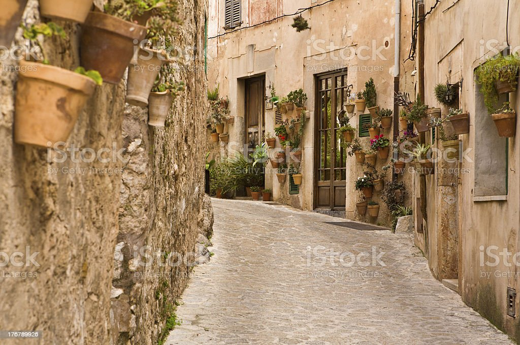 Spanish Village Street, Majorca royalty-free stock photo